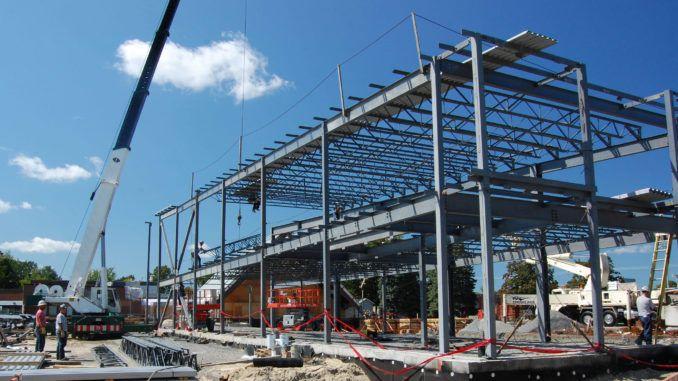 Монтаж конструкций промышленных зданий