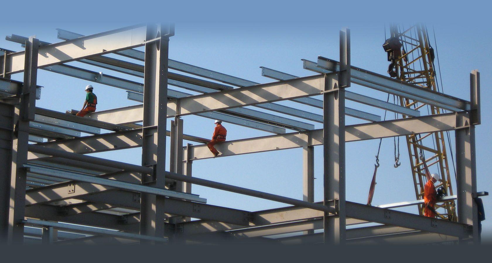 Монтаж металлических конструкций промышленных зданий