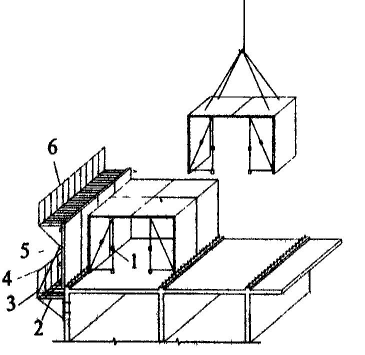 Монтаж объемно-переставной опалубки