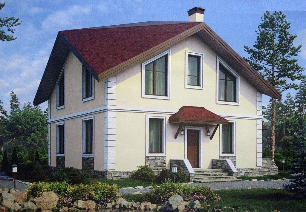 Индивидуальный жилой дом с мансардой.