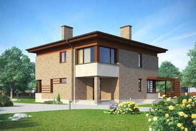 Жилой дом из поризованного кирпича.