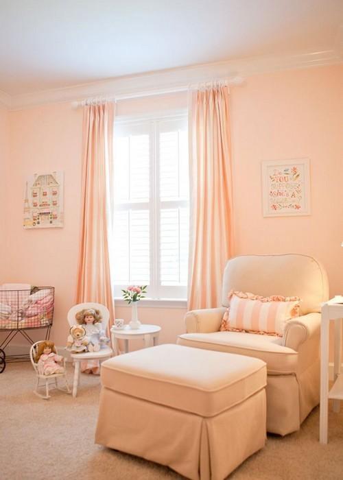 комната в персиковом цвете